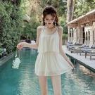 特惠連身泳裝 泳衣2021年新款時尚新款溫泉遮肚顯瘦仙女范連體爆款時尚蕾絲