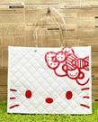 【震撼精品百貨】Hello Kitty 凱蒂貓~日本SANRIO三麗鷗KITTY塑膠袋/防水購物袋-菱格白*15046