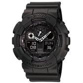 CASIO G-SHOCK變形金鋼機械感重型運動錶 隱藏版 GA-100-1A1DR