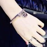 韓版時尚氣質鈦鋼手錬女款經典流行首飾日韓國精致手環不褪色配飾「安妮塔小鋪」