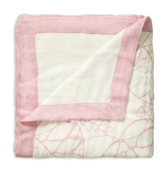 【盒裝正品】美國 aden + anais 嬰幼兒竹纖維被毯/被子/毛毯/禮盒/彌月~粉色月光
