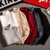 高領素面立體菱格紋針織衫/毛衣 6色 M-2XL碼【CM65211】