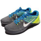 【六折特賣】Nike 訓練鞋 Metcon DSX Flyknit 灰 藍 黃 男鞋 健身專用 運動鞋 【PUMP306】 852930-400