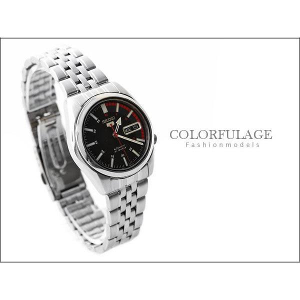 SEIKO 精工5號盾牌賽車不鏽鋼手錶【NE620】柒彩年代