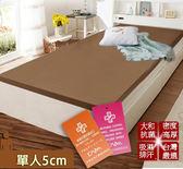 床墊 日本大和 抗菌 防蟎 透氣 5cm 床墊-單人-咖 KOTAS