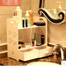 防水環保桌面化妝品收納盒收納架 浴室帶抽...