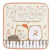 〔小禮堂〕角落生物 棉質圓角小方巾《橘黃.鋼琴鍵》21x21cm.手帕 4974413-72224
