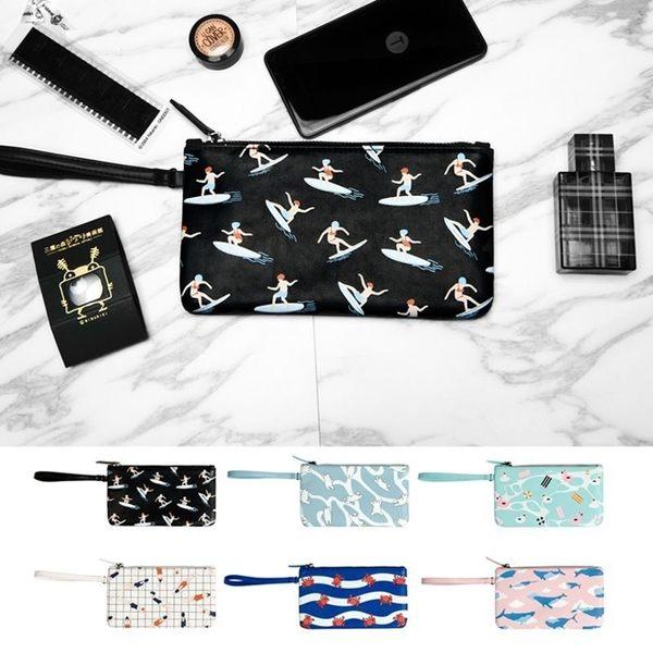 手拿包-皮革休閒手拿包/手機包/長夾/零錢包/收納包-共6色-FuFu