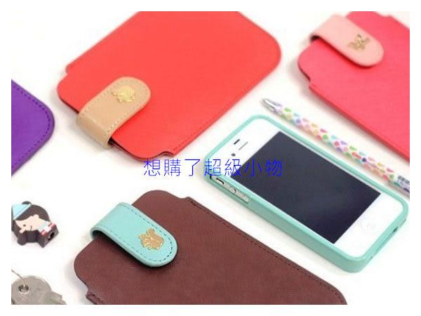 【想購了超級小物】韓版時尚皮質單色iphone5/4S/i9300手機袋 / 手機週邊配件 /  熱銷小物