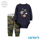 【美國 carter s】狗狗迷彩2件組套裝