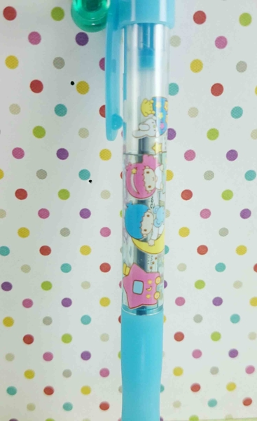 【震撼精品百貨】Little Twin Stars KiKi&LaLa 雙子星小天使~原子筆-藍透明車