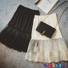 內搭襯裙 新款高腰秋冬季蕾絲打底裙內搭半身裙中長款女韓版網紗內襯裙寶貝計畫 上新