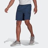 Adidas M WV SHO [GT8162] 男 運動短褲 五分褲 休閒 健身 訓練 簡約 經典 舒適 愛迪達 藍
