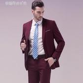 小西裝男士修身英倫青年單西服男版休閒薄款外套上衣 夢露