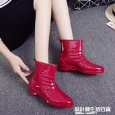 可愛果凍雨鞋時尚廚房雨靴女士防滑膠鞋成人防水鞋女水靴保暖膠鞋 設計師生活