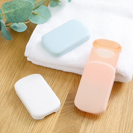 香皂紙 洗手紙 肥皂紙 滑蓋 隨身 補充包 防疫 外出 旅行 清潔 簡約滑蓋皂紙(1入)【T004】慢思行