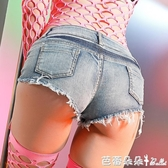 性感夜店低腰短褲女夏顯瘦熱褲大碼超短款露臀修身牛仔褲百搭外穿