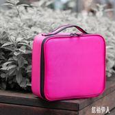 女士化妝箱 旅行化妝箱手提化妝包便攜簡約雙層多功能化妝品收納包 LJ2772『紅袖伊人』