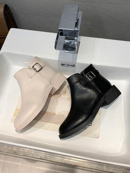 短筒靴 2020新款春秋短靴女平底短筒女靴單靴百搭學生