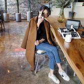 呢子大衣女新款秋冬韓版中長款森系學生赫本風毛呢外套 韓慕精品