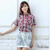 Victoria 潮洗吊帶A字短裙-女-淺灰-V9004081
