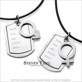 情侶項鍊 西德鋼飾 男女符號吊牌 鋼項鍊*單個價格*