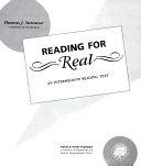 二手書博民逛書店 《Reading for Real》 R2Y ISBN:0838434290│Heinle & Heinle Pub