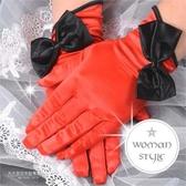 【我們結婚吧!】新娘手套短版絲質雙色蝶戀2 款一雙入46632