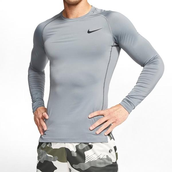 NIKE 長袖上衣 訓練 運動 慢跑 健身 男款 灰 BV5589084