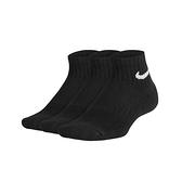 NIKE 男女運動短襪(三雙入 訓練 襪子 Dri-FIT  ≡排汗專家≡