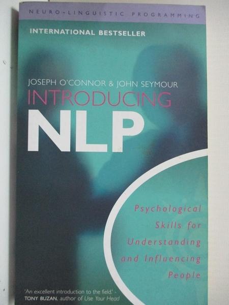 【書寶二手書T1/大學文學_B5Q】Introducing Neuro-Linguistic Programming: Psychological…