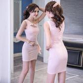 夏裝時尚修身顯瘦性感氣質緊身包臀裙連身裙【多多鞋包店】w258