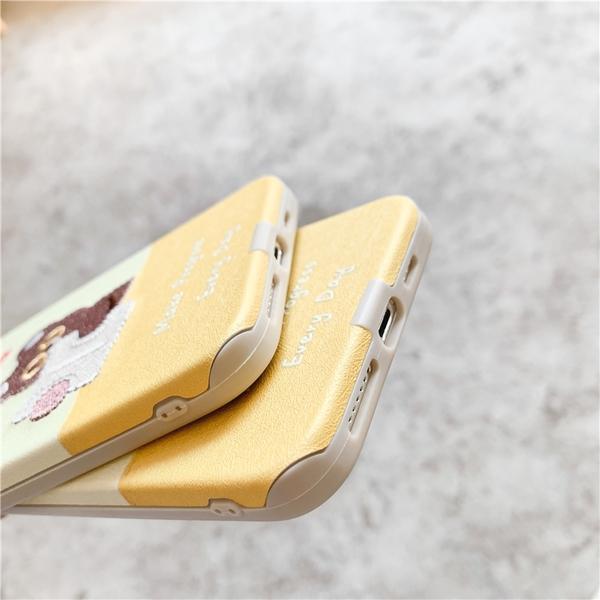 iPhone12 蘋果手機殼 預購 可掛繩 刺繡看書小熊熊 矽膠軟殼 i11/iX/i8/i7/SE