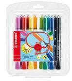 STABILO Cappi Pen 人體工學 彈性筆頭彩色筆12 色168 12 1