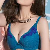 Audrey-玫瑰柔情 大罩杯C-E罩內衣(明艷藍)