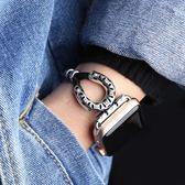 適用Apple Watch蘋果智慧手錶帶 i watch1/2/3代首飾金屬羊皮繩錬  遇見生活