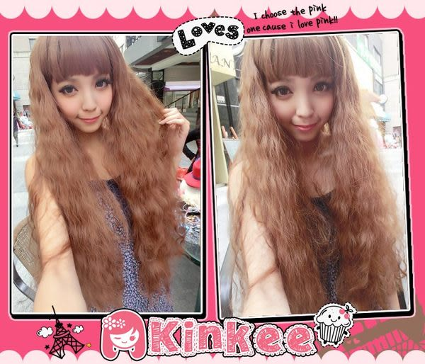 *╮Kinkee假髮╭* 渡假瓷娃娃 超蓬鬆三管電棒捲 耐熱長捲髮 【K0201】