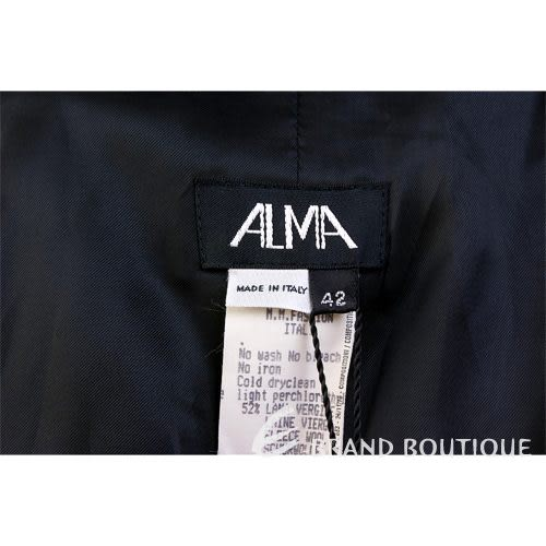 ALMA 鐵灰色拼接皮革西裝外套 0510850-01