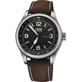 Oris豪利時 皇家醫療飛行團隊II限量機械錶-黑x咖啡錶帶/45mm  0173577284084-SETLS
