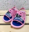 【震撼精品百貨】Hello Kitty 凱蒂貓~台灣製Hello kitty正版兒童拖鞋-可愛大臉黑藍色(13~18號)#18115