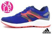 adidas運動鞋 大童鞋 aero bounce j 透氣避震慢跑鞋P9300#藍橘◆OSOME奧森童鞋