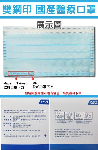 中衛 醫用口罩 50入/盒 綠色 醫療口罩 符合國家標準CNS14774 口罩國家隊 元氣健康館