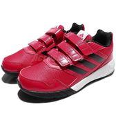adidas 慢跑鞋 Altarun CF K 粉紅 黑 白底 緩震舒適 魔鬼氈 運動鞋 童鞋 中童鞋【PUMP306】 CG3139