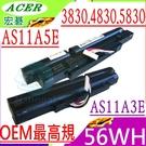 ACER 3830T,4830T,5830T 電池(OEM最高規)-宏碁 3830,4830,5830,3830TG,4830TG,AS11A3E,AS11A5E,5830TG