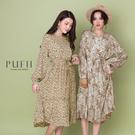 現貨◆PUFII-洋裝 碎花雪紡長洋裝(...