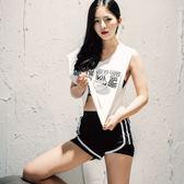 瑜珈服套裝(三件套)-慢跑速乾透氣無袖女運動服2色73ry9[時尚巴黎]