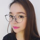 鏡架(圓框)-細邊復古文藝氣質男女平光眼鏡5色73oe67【巴黎精品】