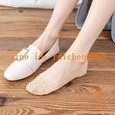 5雙裝 船襪女純棉蕾絲短襪硅膠防滑日系夏季薄款淺口隱形襪子【橘社小鎮】