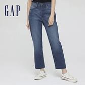Gap女裝 時尚做舊細節五袋牛仔褲 599801-藍色