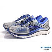 BROOKS 新竹皇家 Glycerin 13 黑藍 橡膠大底 網布 皮革 慢跑鞋 男款 NO.A7528